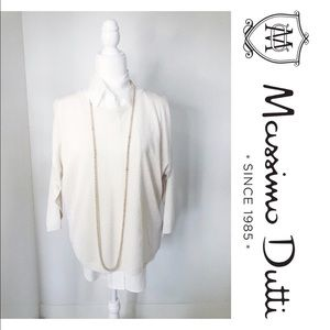 NWT Massimo Dutti Cream Bare  Shoulder Sweater